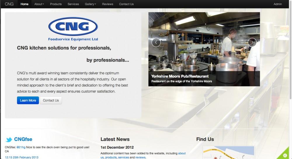 Main homepage