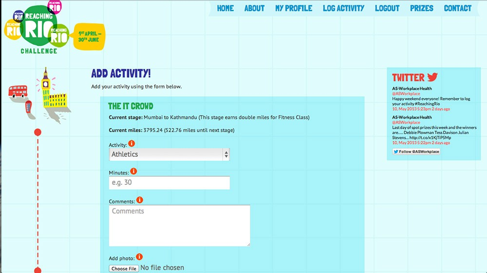 Activity logging form