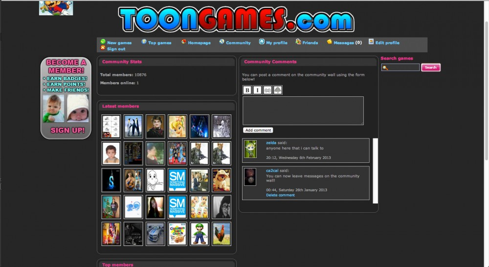 Toon Games community